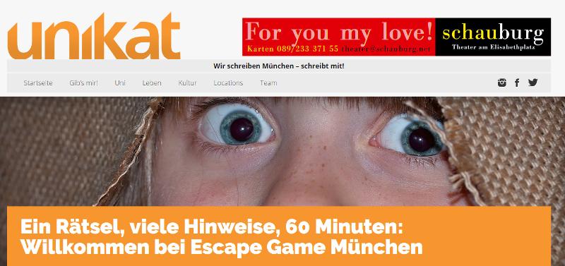 Escape Games München Referenz von Unikat