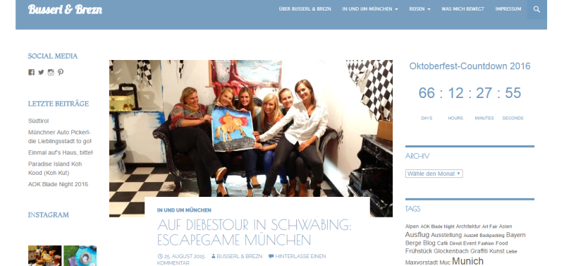Escape Games München Referenz von Busserl und Brezn