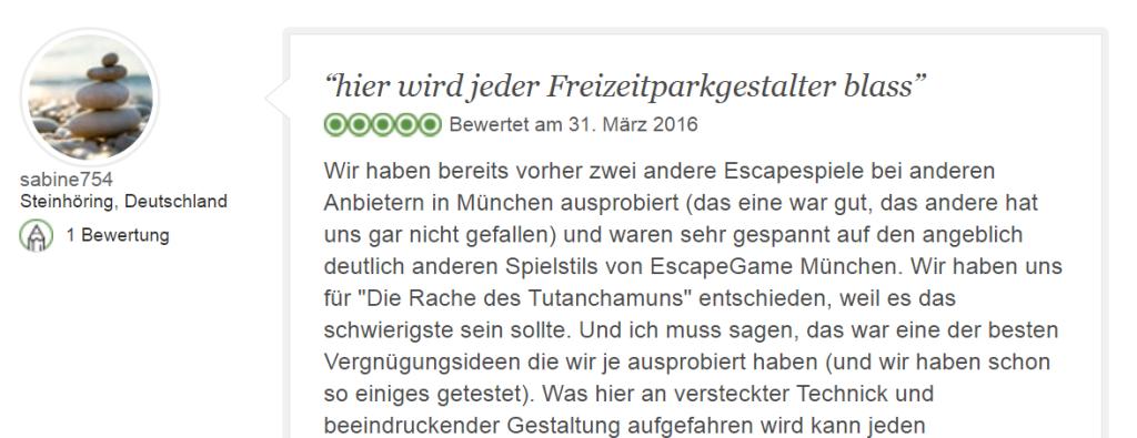 Tripadvisor Bewertung Escape Game Tutanchamun: Eine der besten Vergnügungsideen