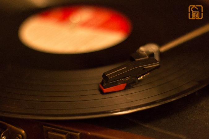 In der Misere Schallplattenspieler