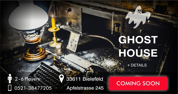 Escape Game Bielefeld Ghost House coming soon