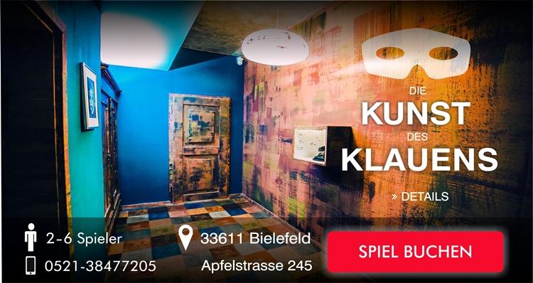 Escape Game Bielefeld Die Kunst des Klauens